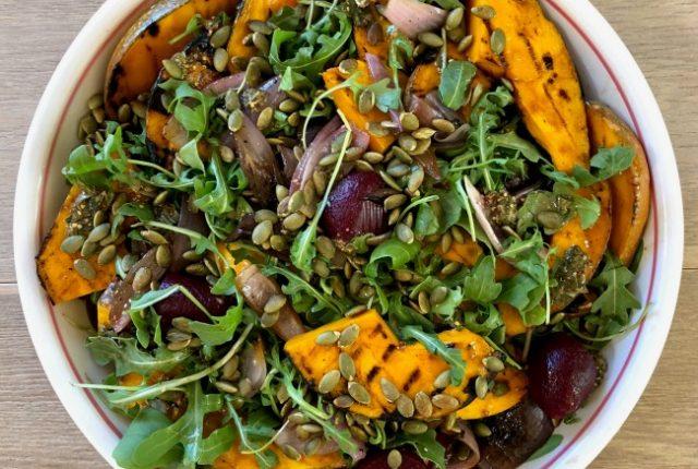 BBQ Pumpkin and Beetroot Salad | I Spy Plum Pie