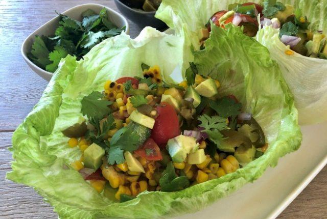 Grilled Corn Lettuce Cups | I Spy Plum Pie