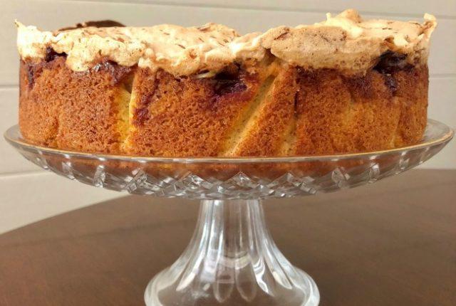 Cherry Coconut Macaroon Cake | I Spy Plum Pie