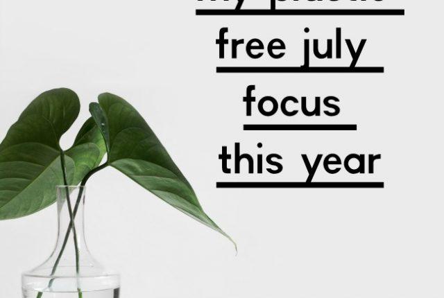 My Plastic Free July Focus This Year | I Spy Plum Pie