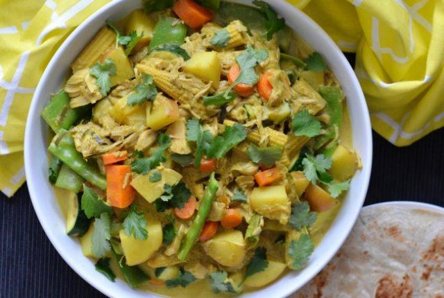 Jackfruit Vegetable Curry | I Spy Plum Pie