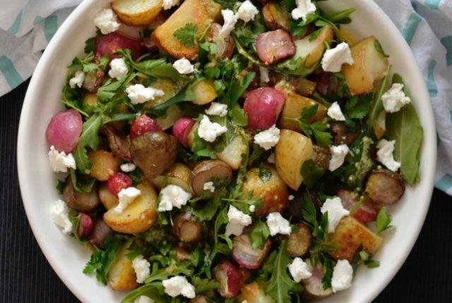 Roasted Radish, Potato and Jerusalem Artichoke Salad | I Spy Plum Pie