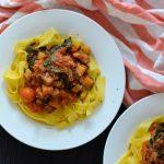 Recipe: Eggplant Kale Tomato Pasta