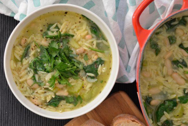 Orzo Spinach Soup | I Spy Plum Pie